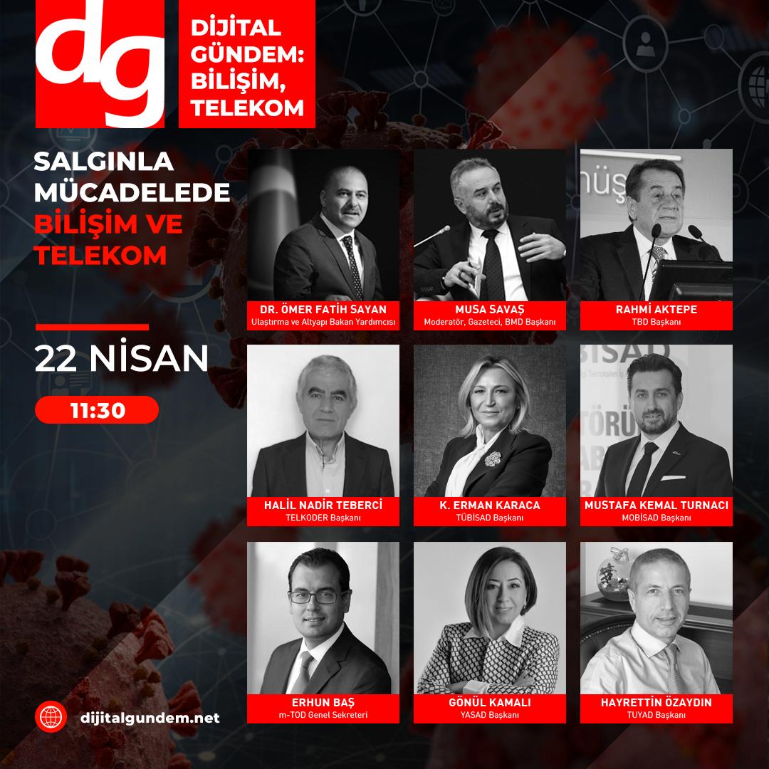 Dijital Gündem, Salgınla Mücadelede Bilişim ve Telekom'u Masaya Yatırıyor