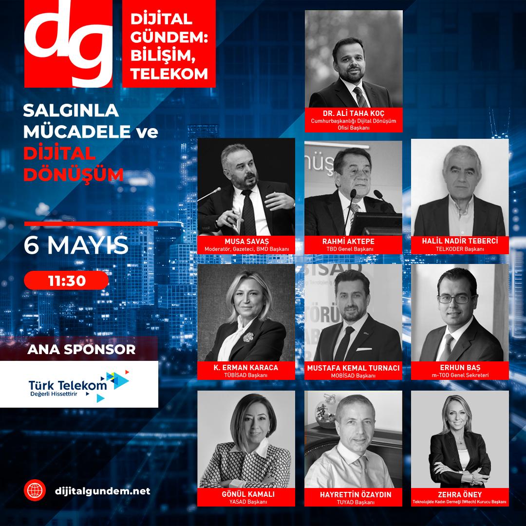 Dijital Gündem, Cumhurbaşkanlığı Dijital Dönüşüm Ofisi Başkanı Dr. Ali Taha Koç'u Konuk Ediyor