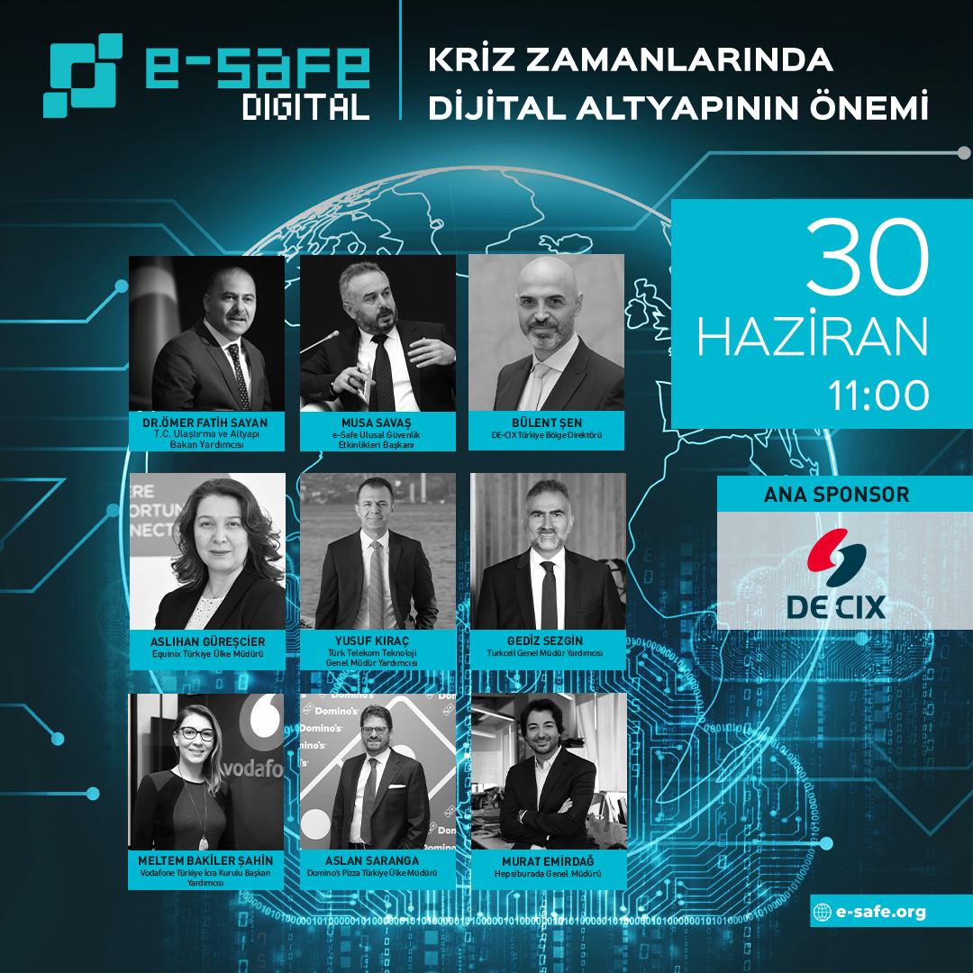e-Safe Digital'in İlk Çevrim İçi Etkinliğinde, Kriz Zamanlarında Dijital Altyapılar Konuşulacak