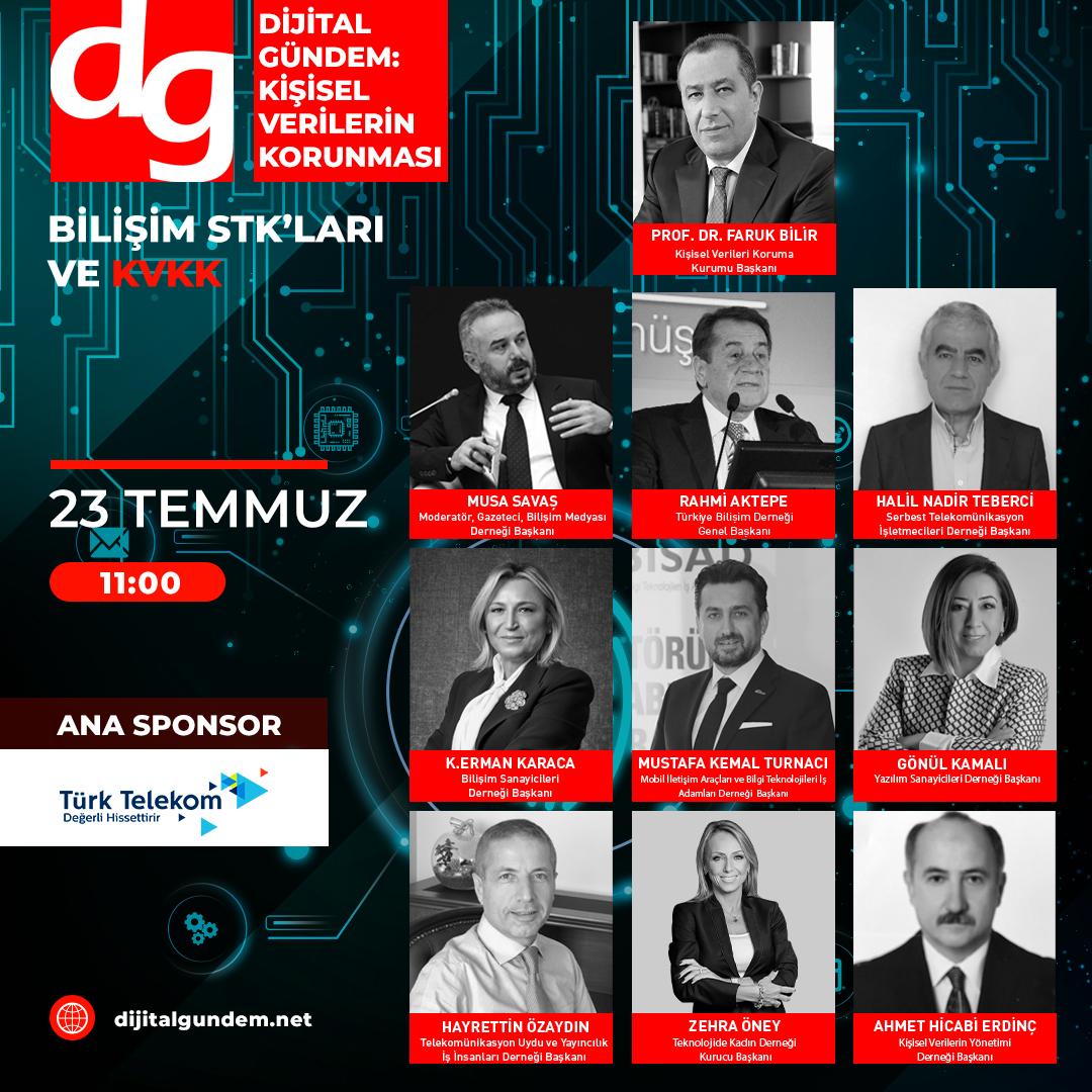 Dijital Gündem, Bilişim STK'ları ile KVKK Başkan Prof. Dr. Faruk Bilir'i Buluşturuyor